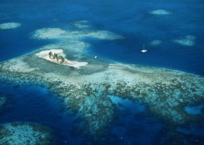 Goff's Caye Aerial View