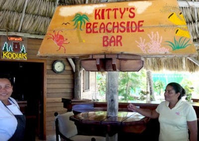 Private Chef Nathalie and Assistant Maira Serve at Kitty's Palapa