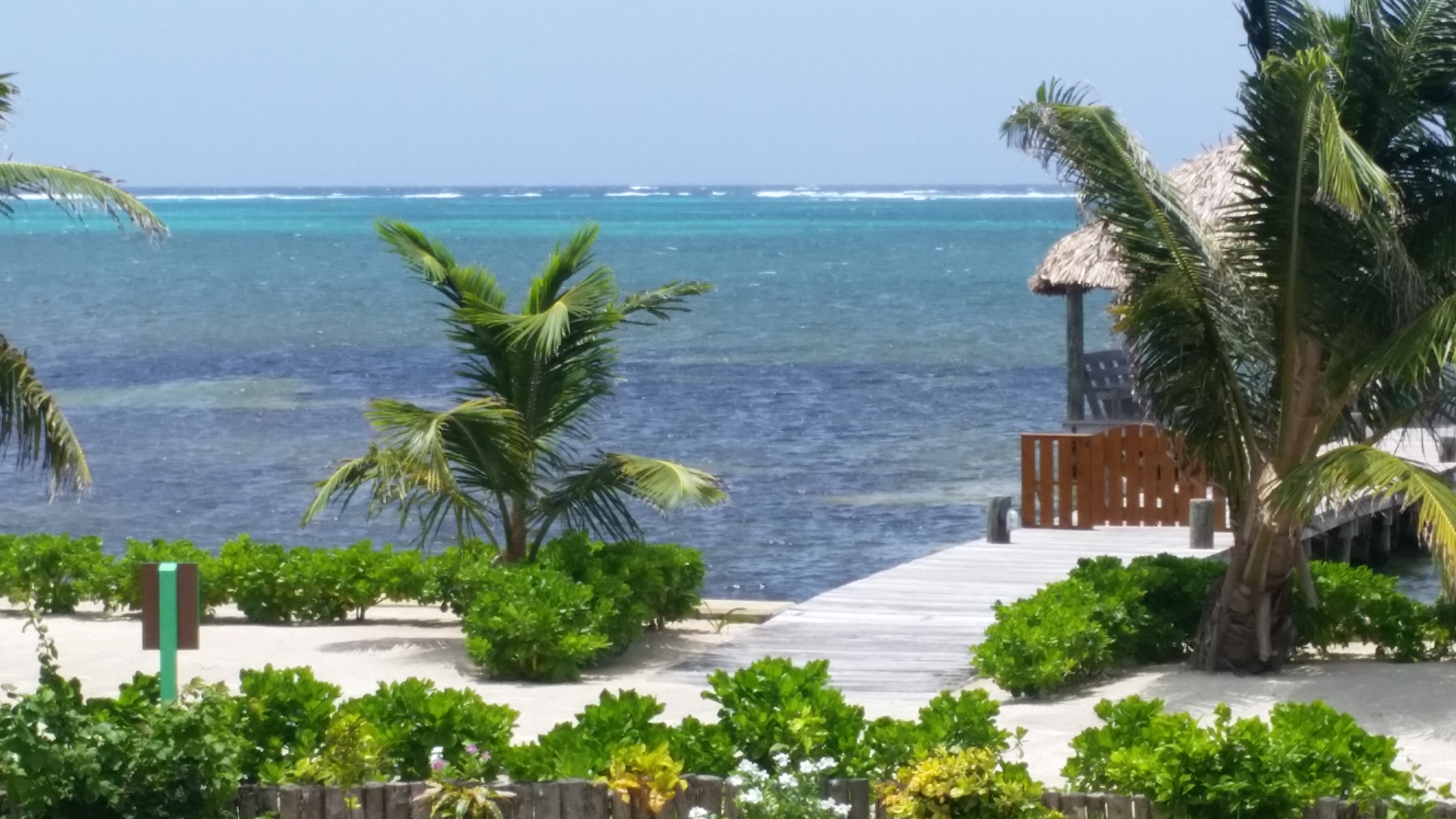 Belize Barrier Reef Viewed from Canary Cove