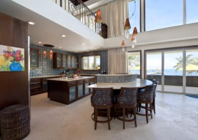 Canary Cove Main House Spacious Kitchen with Bar Seating