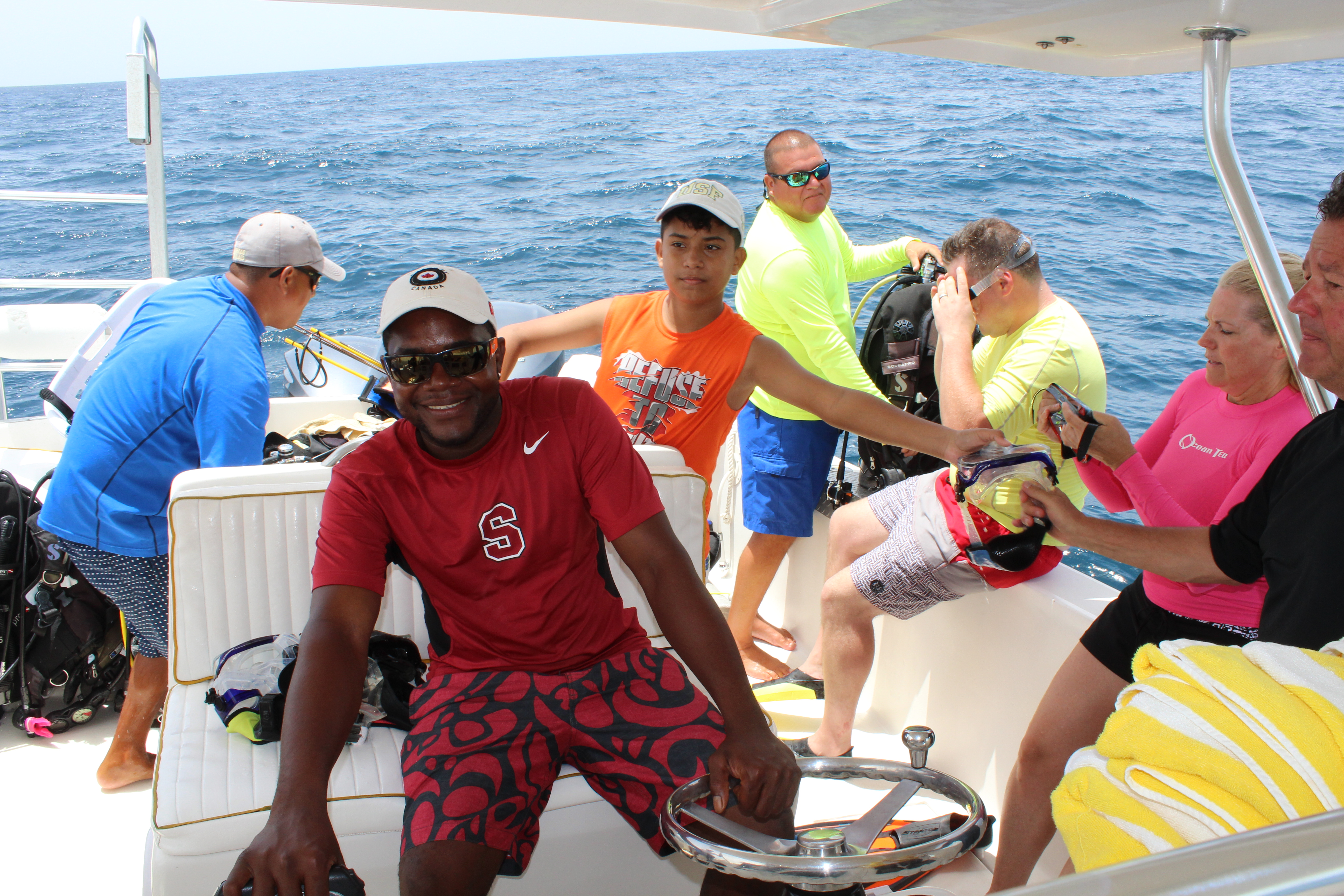 Canary Cove Privately Guided SCUBA Diving with Divemasters Gil & Palma, Boat Captain Mike