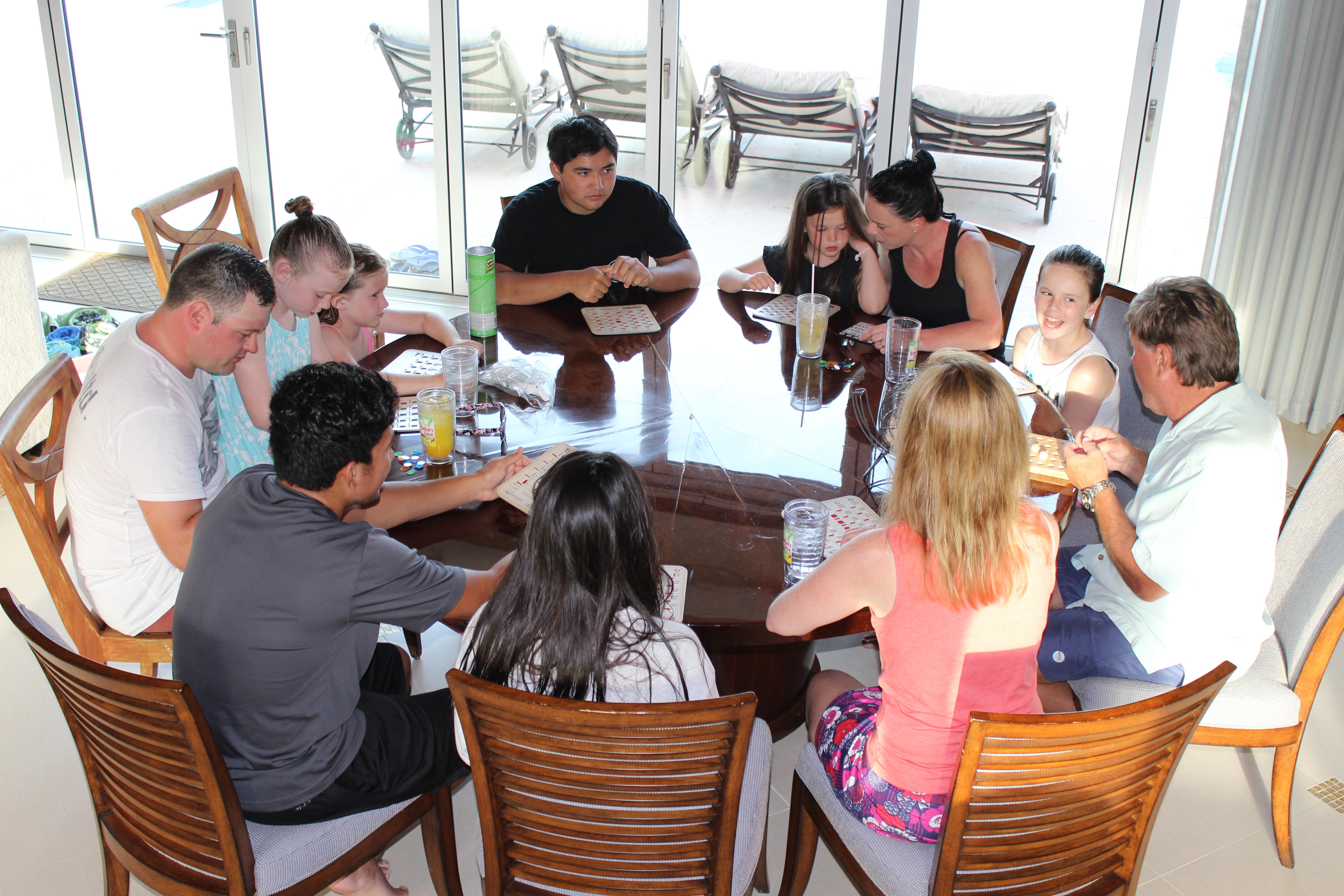 Canary Cove Bingo Fun in the Villa