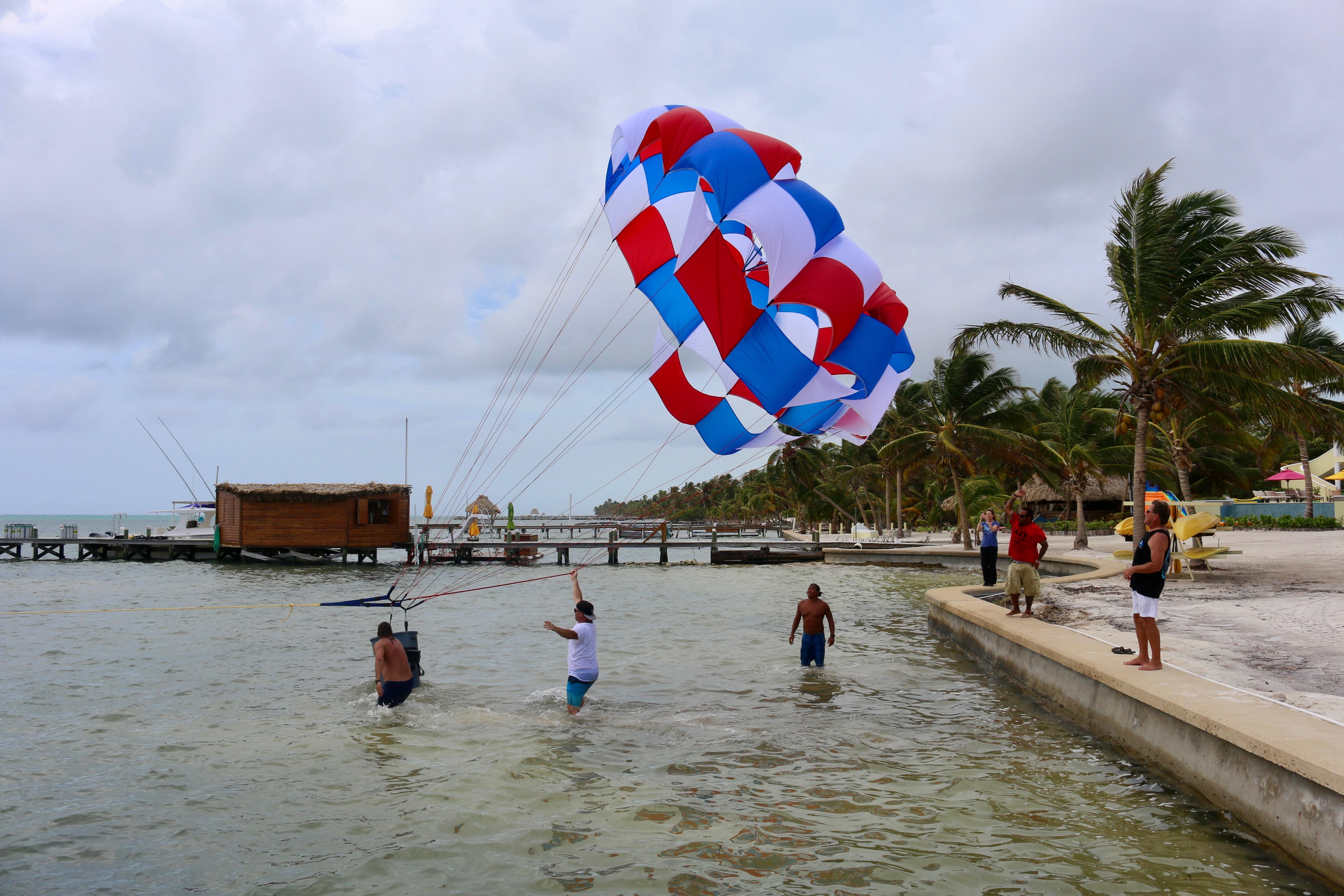 Guests Parasailing at Canary Cove