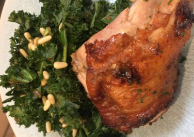 Canary Cove Private Chef-prepared BBQ Chicken and Kale Salad
