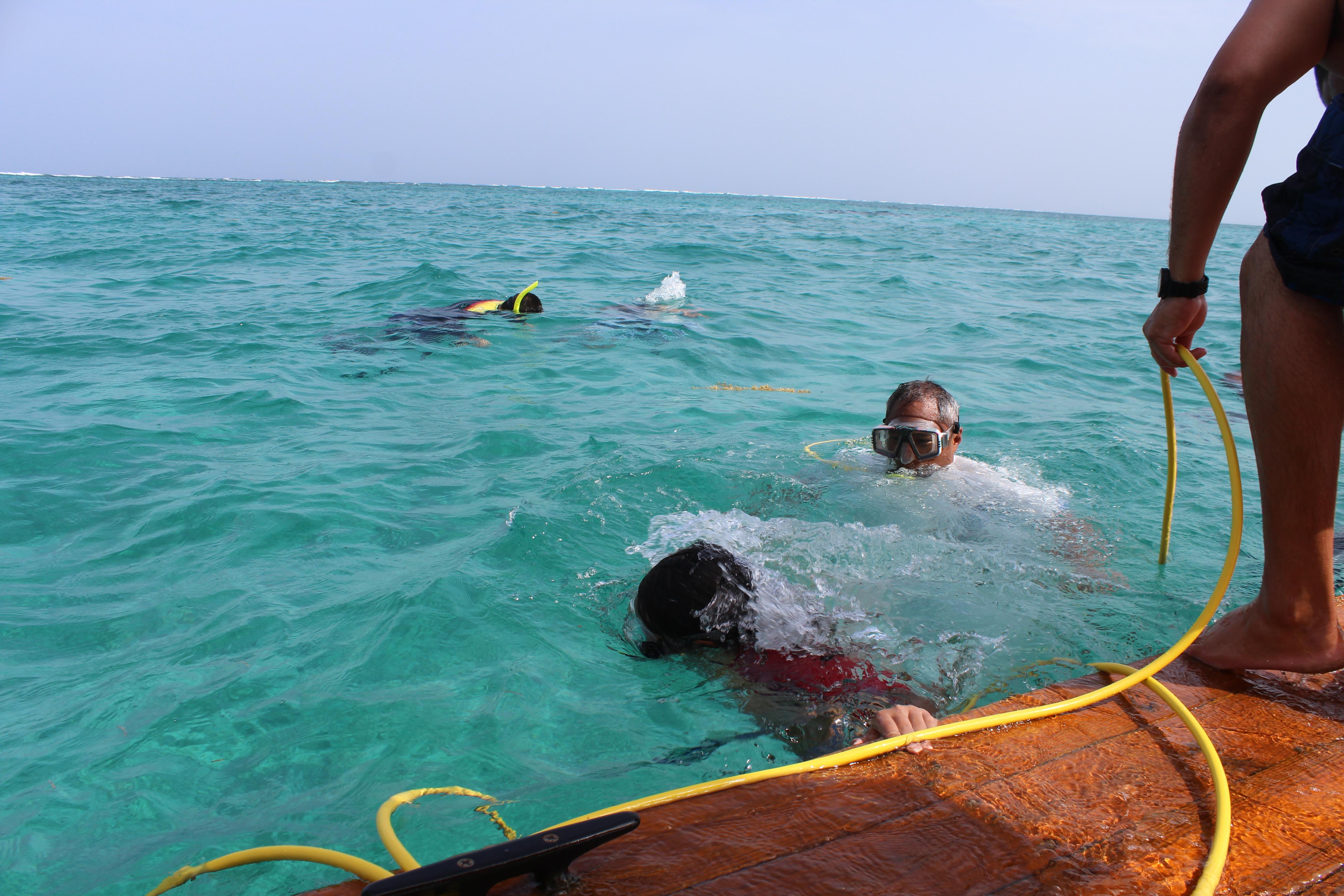 Canary Cove Snuba Fun from the Swim Platform at Mexico Rocks
