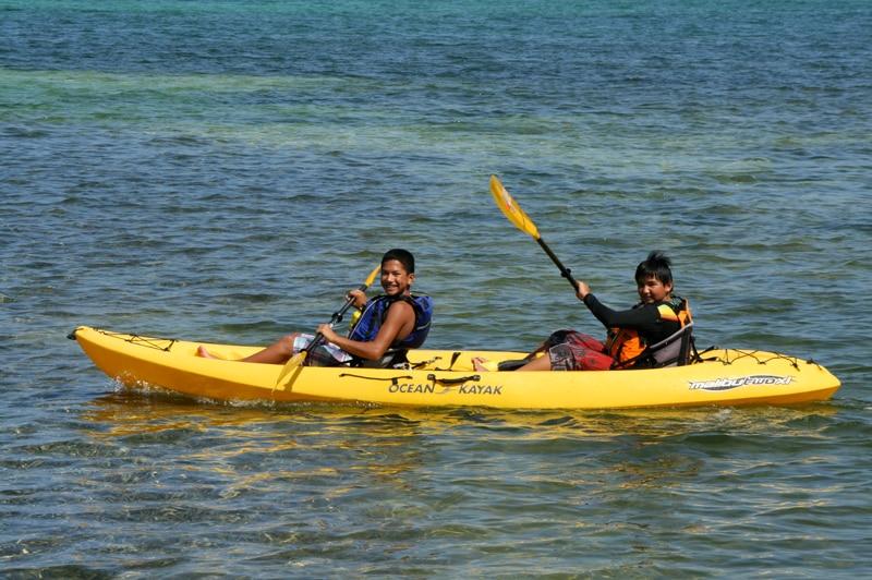 Kayaking Inside the Reef