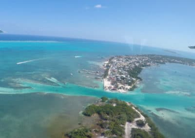 Caye Caulker Seen From the Air