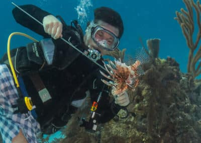 SCUBA Diving and Hunting Lionfish