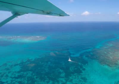 Aerial Belizean Barrier Reef View