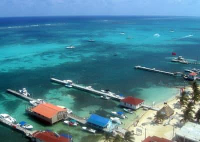 San Pedro Belize Aerial View