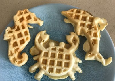 Canary Cove Sea Waffles for Breakfast
