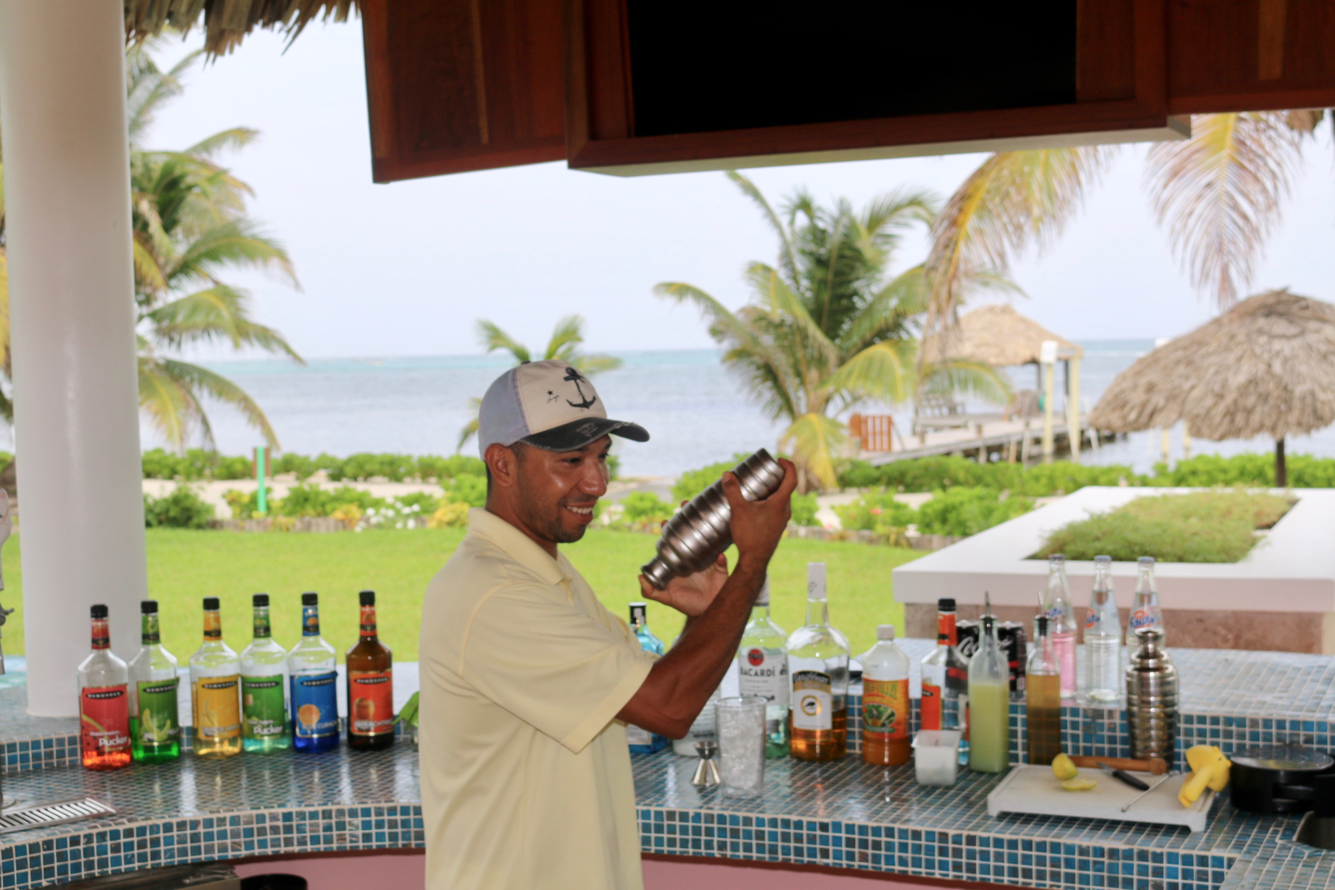 Canary Cove Private Bartender Oscar Doing His Magic