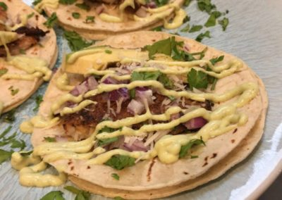 Canary Cove Private Chef-prepared Grilled Chicken and Tortilla Soft Tacos